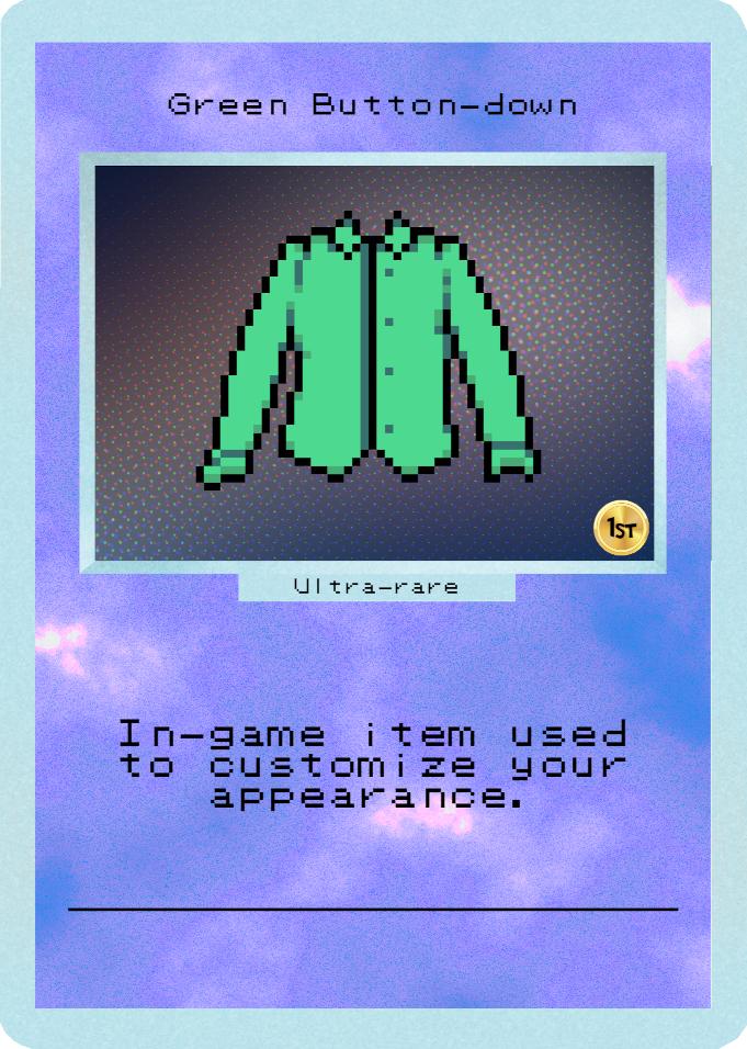 Green Button-down